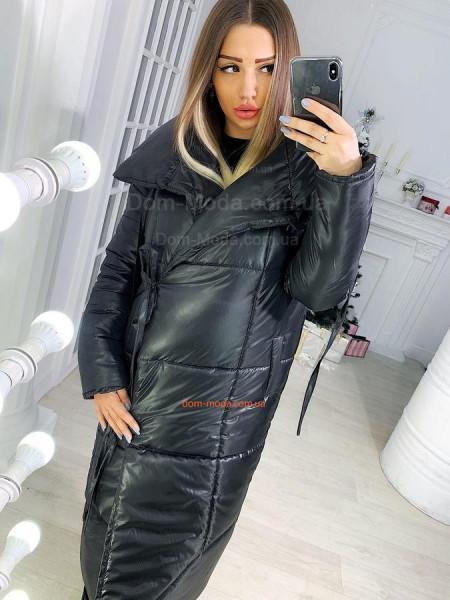 Длинный пуховик пальто оверсайз