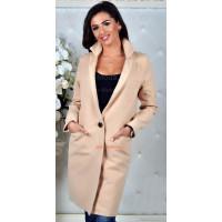 Модное кашемировое пальто на одну пуговицу