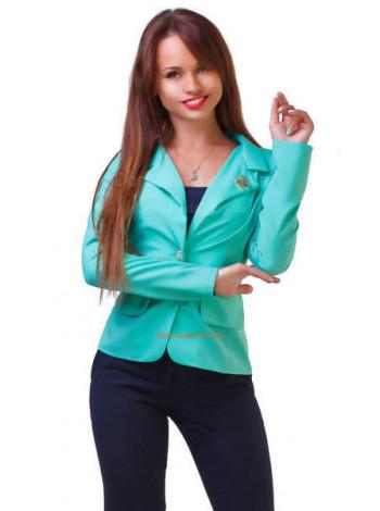 """Женский однотонный пиджак на одну пуговицу большого размера """"Шанель"""""""