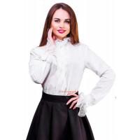 Модная женская блуза с кружевом