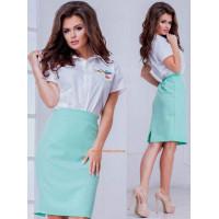 Літня пряма юбка жіноча великого розміру