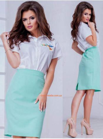Летняя прямая юбка женская большого размера