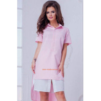 Короткое летнее женское платье рубашка: норма и ботал