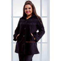 Женское пальто кашемировое большого размера