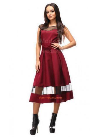Нарядное платье миди с бантиком