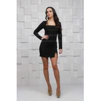 """Короткое мини платье с длинным рукавом """"Поль"""""""