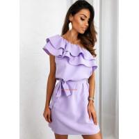 Женское летнее платье на одно плечо