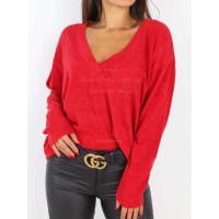Жіноча модна кофта пуловер з ефектним декольте