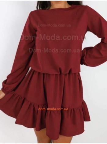 Однотонное женское платье