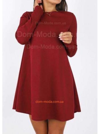 Женское платье трапеция с длинным рукавом