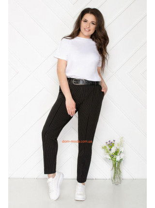 Женские брюки в полоску для полных