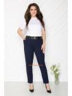 Жіночі брюки в полоску для повних