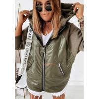 Женская куртка ветровка асимметричного кроя батал