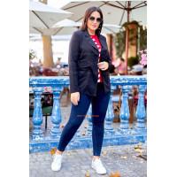 Трикотажный женский пиджак для полных