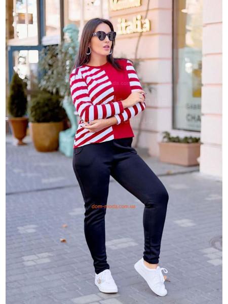 Теплые спортивные штаны для полных женщин