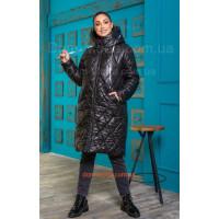 Зимняя куртка женская удлиненная большого размера