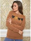 Трикотажный женский свитшот с сердцем