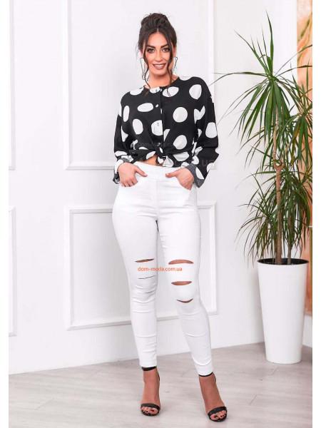 Білі джинси з високою талією