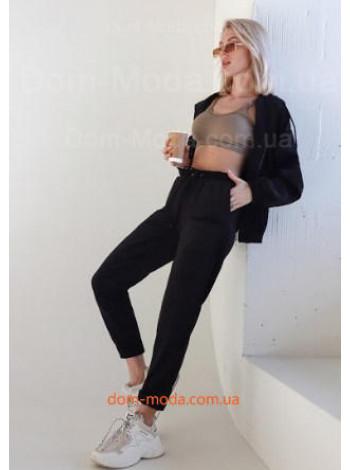 Вельветовые женские брюки с завышенной талией