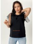 Модная женская футболка с сеткой