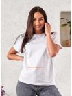 Жіноча однотонна футболка