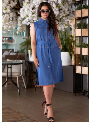 Женское летнее платье рубашка большого размера