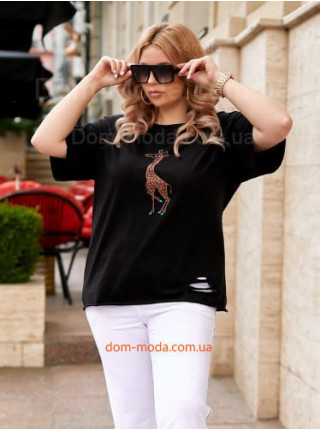 Молодежная футболка с жирафом