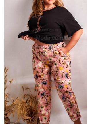Легкие штаны в цветочек