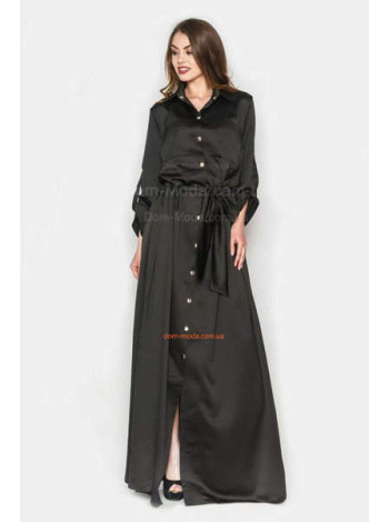 Длинное платье рубашка из шелка