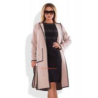 Модное пальто из кашемира большого размера и норма