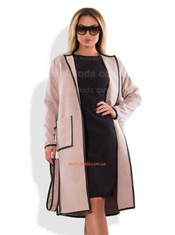 Модне пальто з кашеміру великого розміру і норма