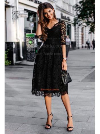 Вечірня сукня міді з мережива