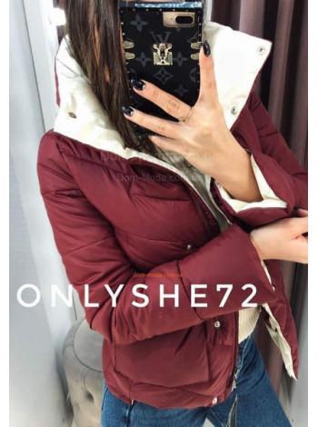 """Жіноча модна коротка куртка з високим коміром """"Тімберлейк"""""""