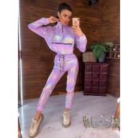 Молодежный спортивный костюм из плащевки женский
