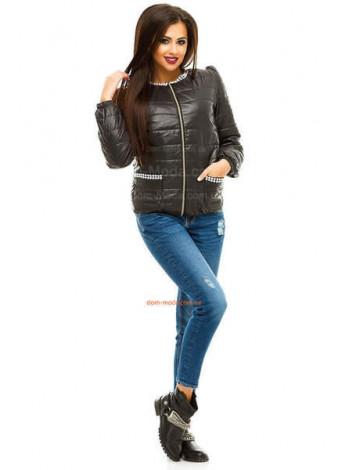 """Легкая стеганая куртка с декоративной фурнитурой """"Стайл"""""""