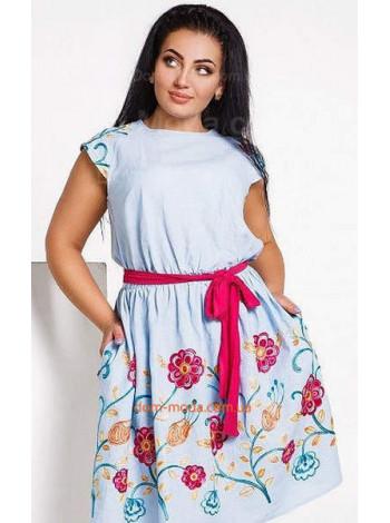 """Женское стильное легкое платье """"Лен"""""""