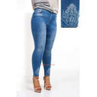 """Женские облегающие модные джинсы большого размера """"КК"""""""