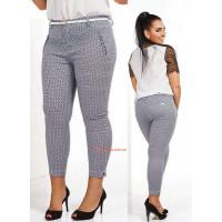 Стильні жіночі капрі брюки з поясом великого розміру