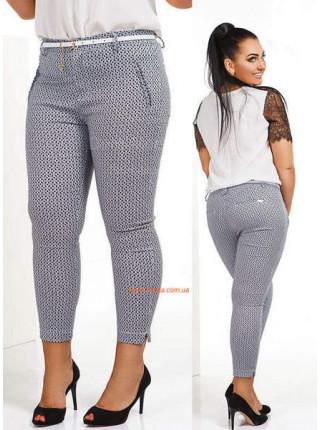Стильные женские капри брюки с поясом большого размера