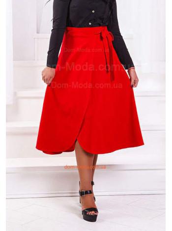 Женская юбка с запахом для полных