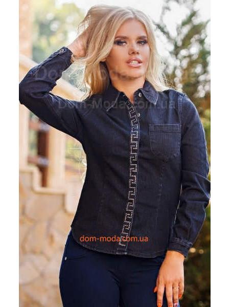 """Женская джинсовая модная рубашка """"АС"""""""