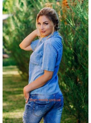 "Жіноча джинсова стильна сорочка ""Vс"""