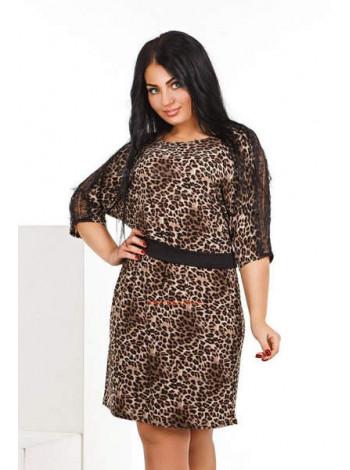 """Леопардовое элегантное платье """"Оливия"""""""