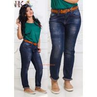 Жіночі модні джинси бойфренди з підкатом