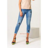 Молодіжні жіночі джинси скінні з вишивкою