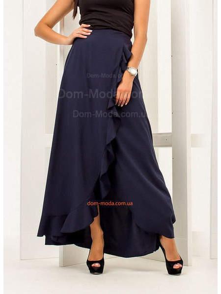 Женская юбка с запахом в пол