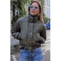 """Жіноча молодіжна куртка з високим коміром """"Дарина"""""""