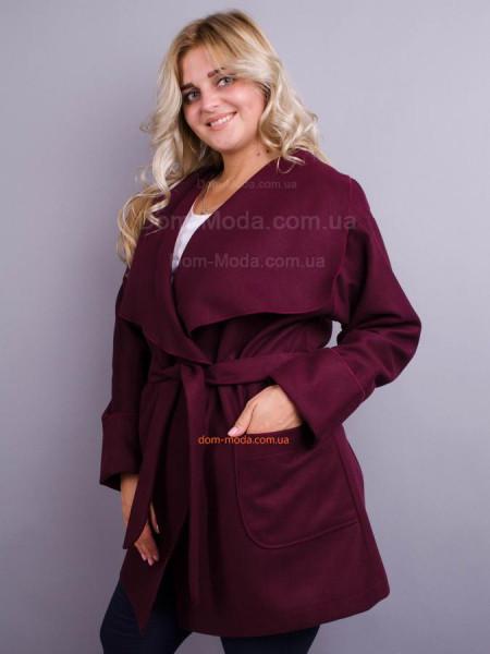 Кашемировое женское пальто для полных