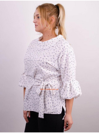 Жіноча стильна блузка в принт великого розміру