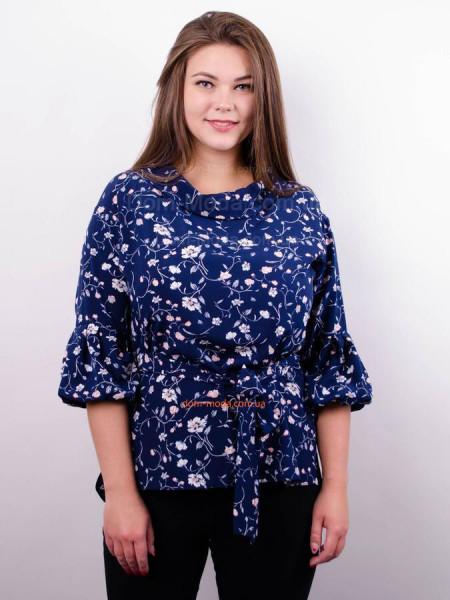 Женская стильная блузка в принт большого размера